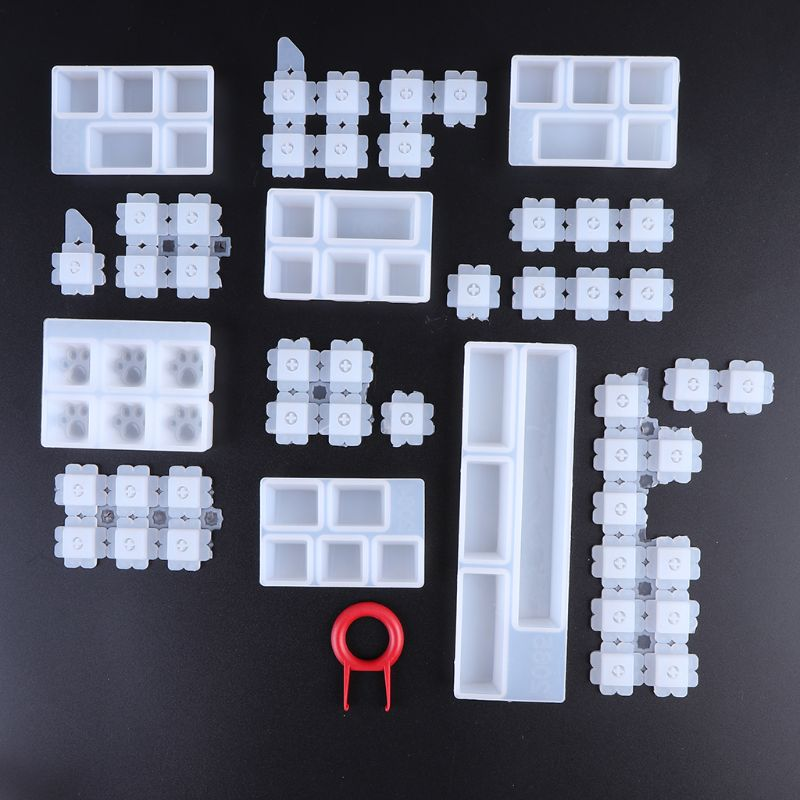 1 Set Manual DIY Mechanical Keyboard Key Cap Silicone Mold UV Crystal Epoxy Molds Handmade Crafts Making Tools