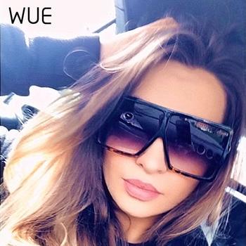 WUE 2019 NEW Fashion Sunglasses Women Square Luxury Brand Big Black Sun Glasses Female Mirror Shades Ladies Lunette Femme Oculos 4