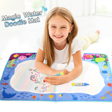 74*49cm Water Drawing Mat with 2 Magic Pens Doodle Mat Baby