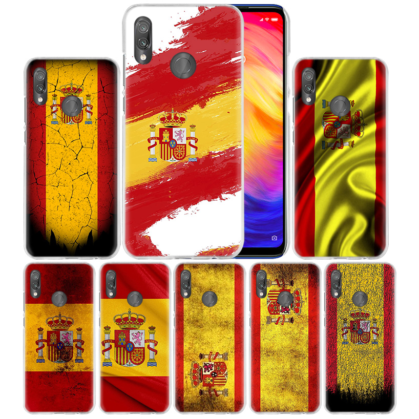 >Spain <font><b>Spanish</b></font> Flag Case for Xiaomi Redmi Note 8T 7 8 K20 8A 7A 6 6A Mi Play 10 9 Pro 9T CC9 A3 Lite F1 Hard Phone Coque Bags