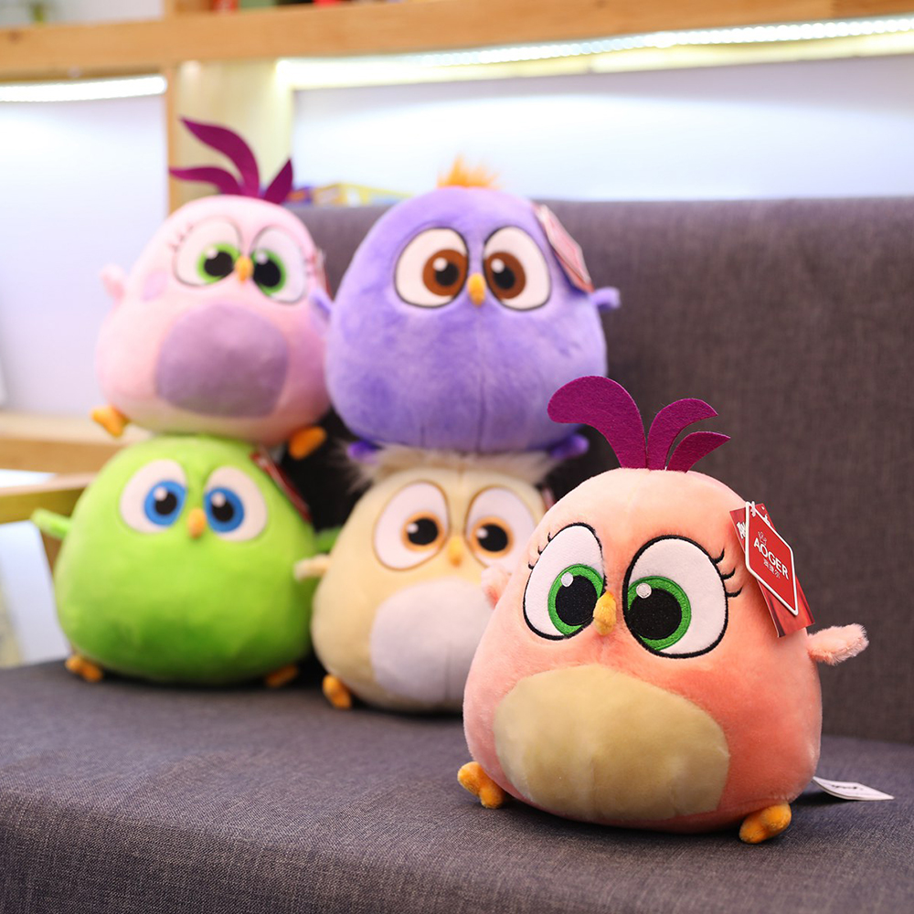 High quality Birds plush toy Red Chuck Bomb Bad piggies Stuffed Toys Cute Soft toy Holiday gifts for children birthday present