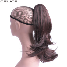 Delice 18 Womens Natural Wave Claw Ponytails Clip In Long Wavy Ponytail Heat Resistant Synthetic Hair Pieces