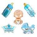 5 шт./лот, праздничные мини-шары из фольги для мальчиков и девочек, для детского душа, для коляски, гелиевые шары, вечерние товары на день рожд...