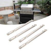4 Uds Parrilla de acero inoxidable tubo quemadores accesorios de repuesto accesorios de barbacoa Parrilla de Gas de piezas de repuesto parrilla tubo de cocina