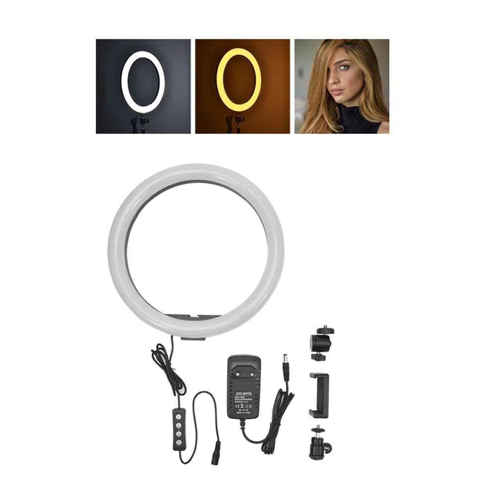 New Photography Dimmable LED Selfie Ring Light Youtube Video Live Photo Studio Light With Phone Holder Make Up Light