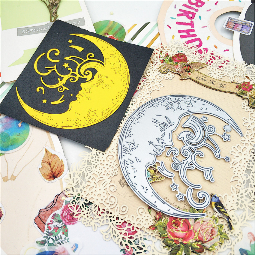 New Moon Cutting Dies Embossing Stencil Scrapbooking Decor Craft Card Paper