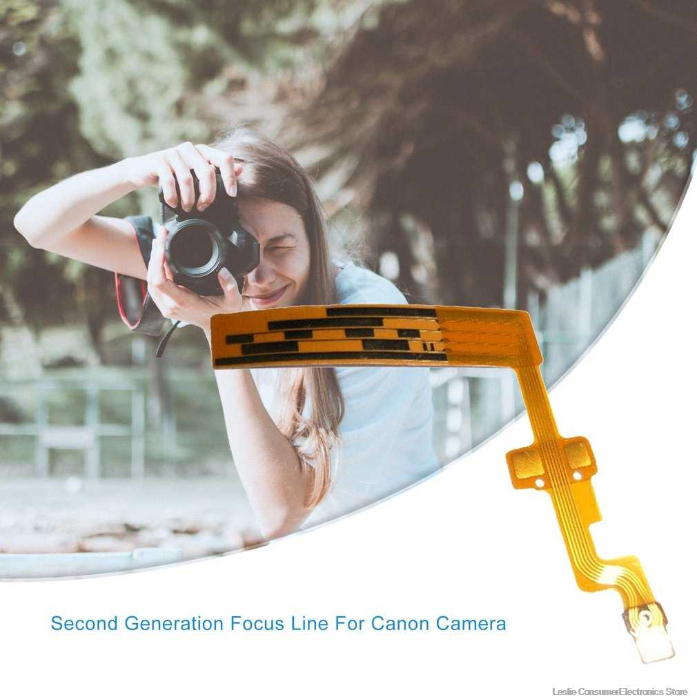 Peças de reparo para canon EF-S 18-55mm F3.5-5.6 é 18-55 ii lente foco escova elétrica cabo flexível a segunda geração ii