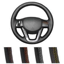 цена на Car Steering Wheel Cover Black Leather For Kia K5 2011 2012 2013 Kia Optima