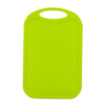 Plastic Hakblok Vlees Groente Snijplank Antislip Anti Overloop Met Hang Gat Snijplank Groen