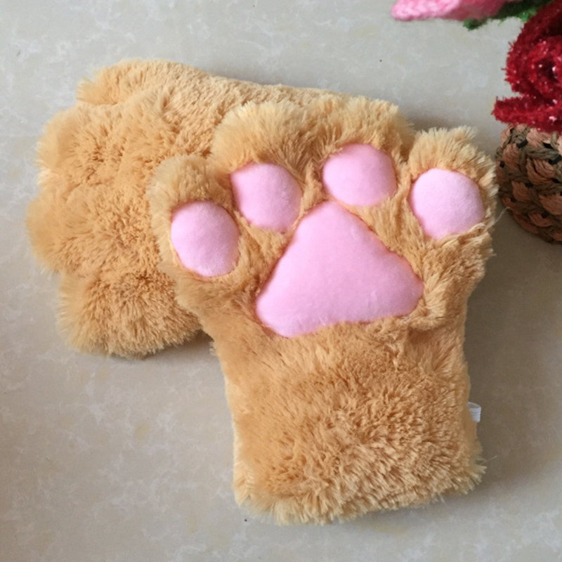 Cute Claw Anime Party Gloves Cosplay Costume Plush Cat Kitten Paw