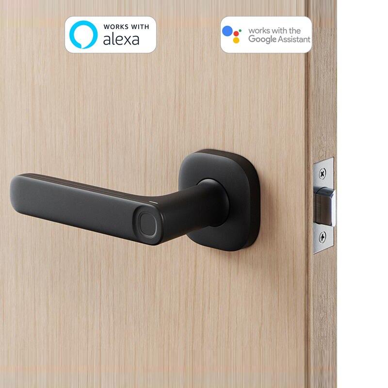 Yeeuu R1 News Electronic Door Lock Bluetooth Phone APP NFC Card Unlock Gateway Work With Alexa Google Assistant Fashion Design