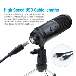 Image 4 - USB Condenser Microphone for Computer Karaoke Studio Microphone for bm 800 YouTube Gaming Recording mic with Stand Shock Mount