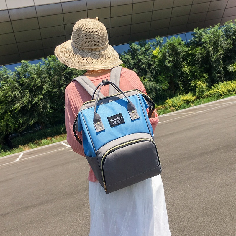 Fashion MOTHER'S Bag Multi-functional Women's Large-Volume Oxford Cloth Backpack Korean-style Trend Nursing Travel Bag