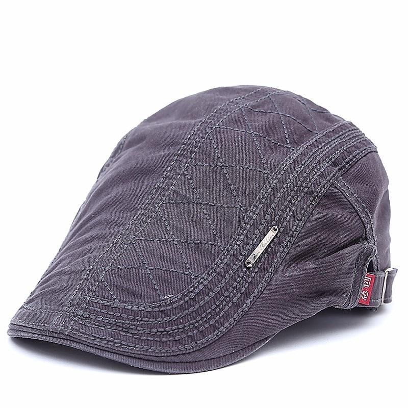 2019 New Cotton Beret Hats For Men Summer Flat Cap Male Vintage Casquette Caps Fall Berets Men's Hat For Auntumn Winter