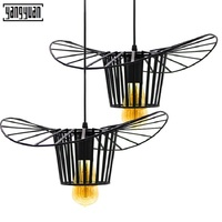 Nordic Coffee bar chandelier led light creative post modern straw hat chandelier personality living room Study Loft led lamps