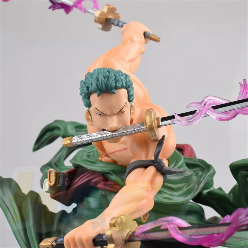 Roronoa Zoro Figure Statue Anime One Piece Figure Figurine Toy Model Collection RORONOA ZORO 23cm IN Box