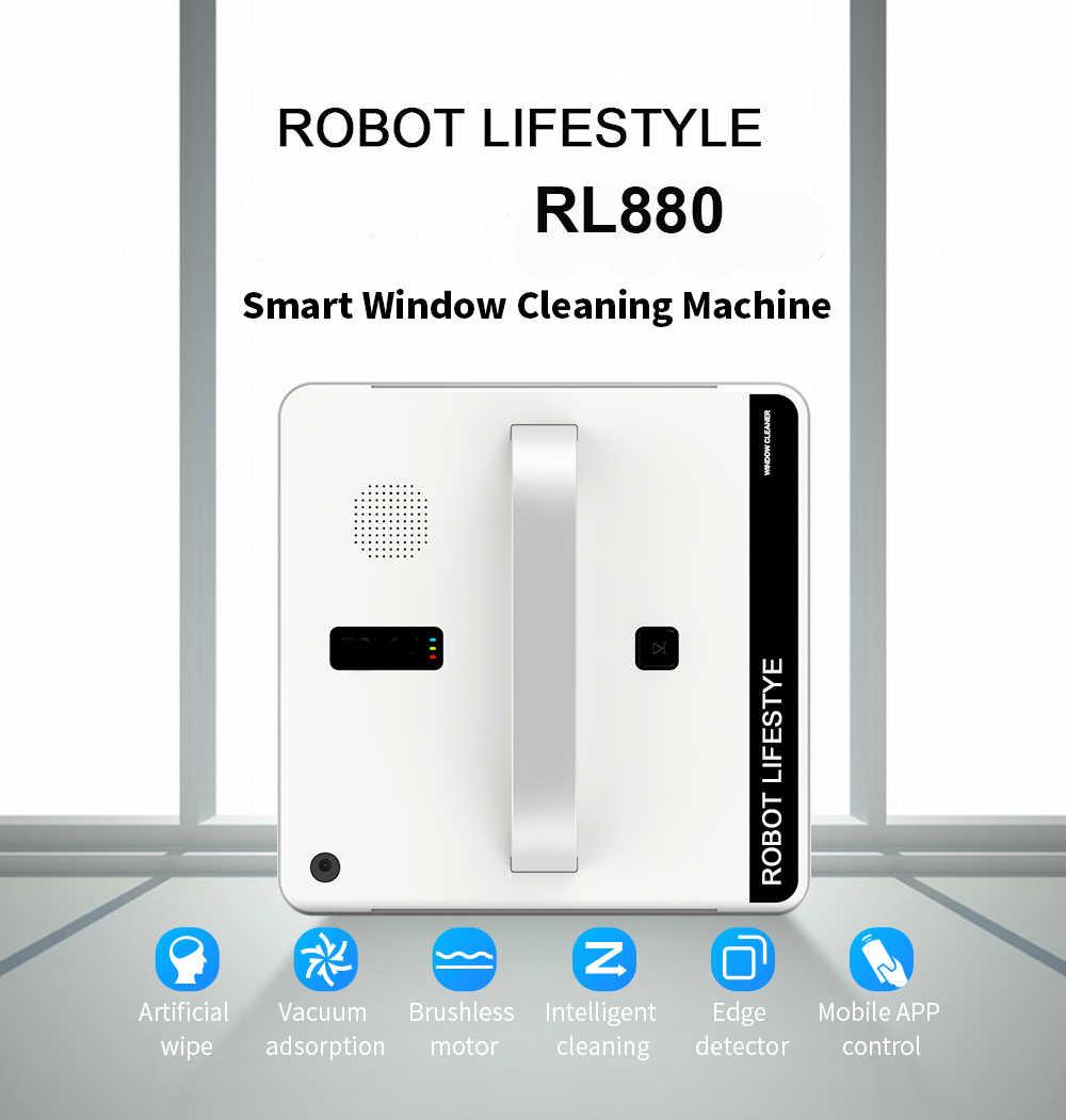 หุ่นยนต์ทำความสะอาดหน้าต่างเครื่องดูดฝุ่นสมาร์ท Planned ประเภท Wifi App ควบคุมหน้าต่างหุ่นยนต์ทำความสะอาดกระจก 100-240 V