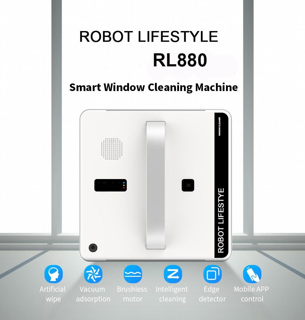 Robot nettoyeur de vitres aspirateur intelligent Type planifié Wifi App contrôle vitre Robot de nettoyage 100-240 V