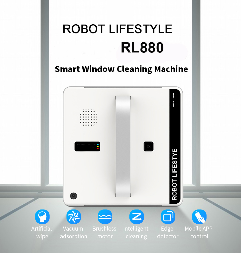 Robotic Window Cleaner Vacuum Cleaner Smart Planned Type Wifi App Control Window Glass Cleaning Robot 100 - 240V