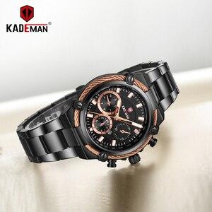 Image 5 - KADEMAN Luxury Brand Ladies Watch Fashion 3ATM Waterproof Quartz Watch For Female With Stainless Steel Belt Bayan Kol Saati 836