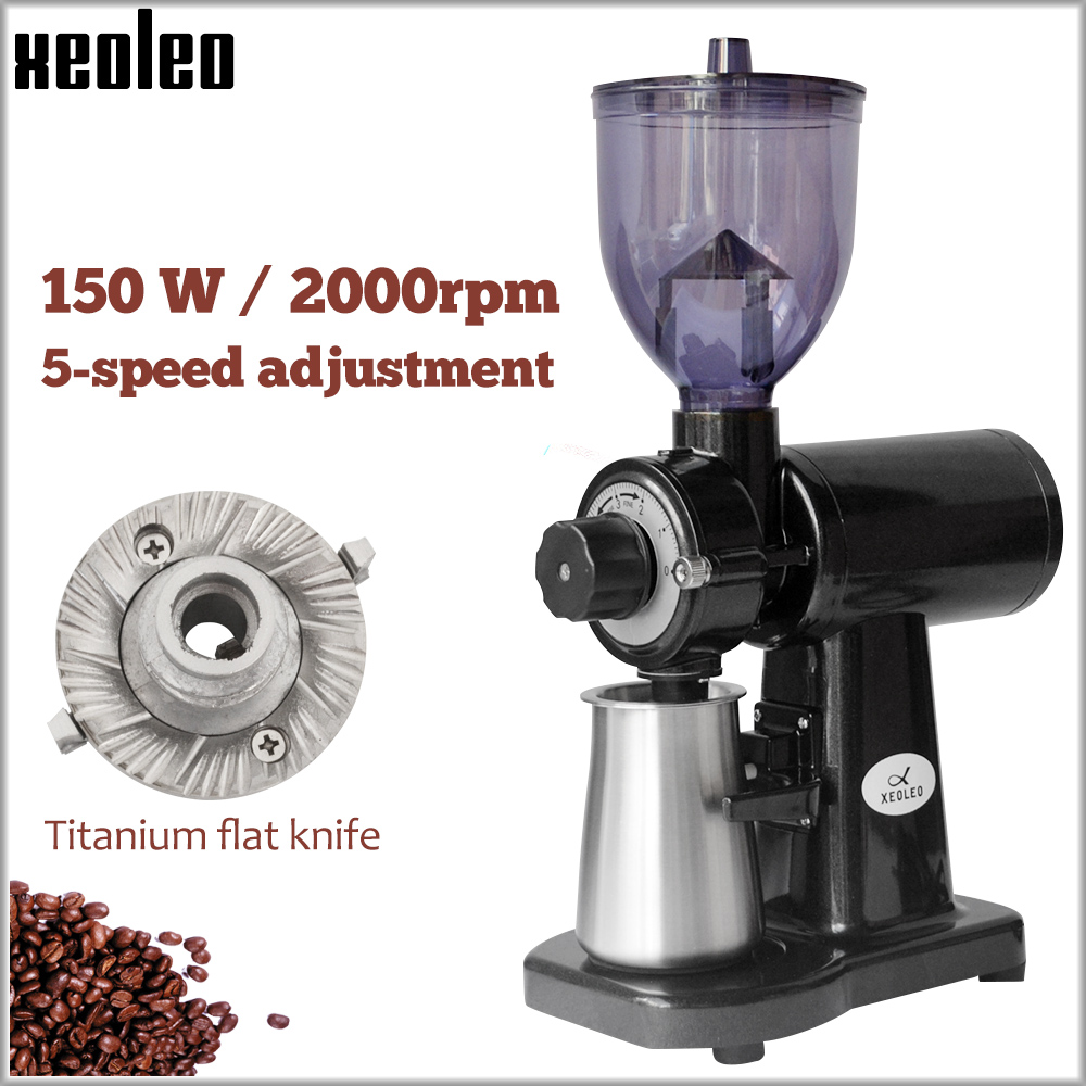 XEOLEO 60mm Conical Burr Coffee Grinder 150W Electric Coffee Grinder Household Coffee Miller White/black 250g Milling Machine
