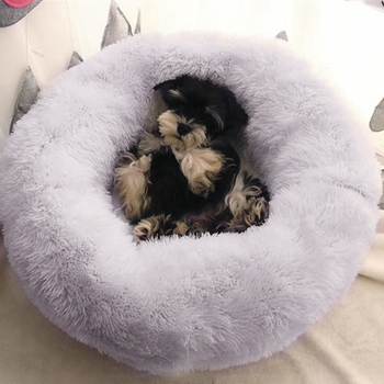 Round Plush Dogs Bed  3