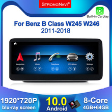 1920*720 Android10.0 4G Lteรถวิทยุเครื่องเล่นมัลติมีเดียสำหรับMercedes Benz B Class W245 W246 2011 2018 4 + 64G WIFI BT 8Core 4 + 64G
