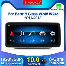 1920*720 Android10.0 4G lte 자동차 라디오 멀티미디어 플레이어 메르세데스 벤츠 B 클래스 W245 W246 2011 2018 4 + 64G WIFI BT 8 코어 4 + 64G