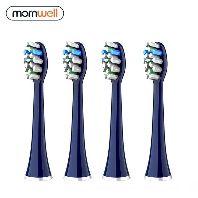 Набор сменных насадок для электрической зубной щетки Mornwell T25, 4 шт. 1