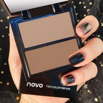 Novo 2 Colors Highlight Contour Bronzer Makeup Shading Highlighter Powder Palette Brighten Glow Illuminator Facial Cosmetics недорого
