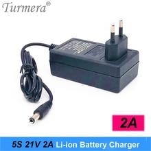 Charger 12.6V 16.8V 21V 25V 2A 18650 Lithium Battery Charger DC5.5*2.1MM for 3S 4S 5S 6S 12V to 25V Screwdriver Battery Pack Use