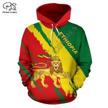 Мужчины Женщины полный печати Эфиопии 3D толстовки забавный страны флаг толстовка мода капюшоном унисекс Лев капля пуловер доставка