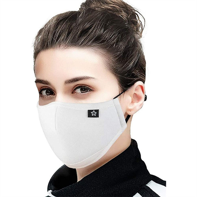 1pcs White Dustproof Mask Washable And Reusable Cotton Mouth Face Masks Mouth Cover For Man And Woman Маска Для Взрослых 1