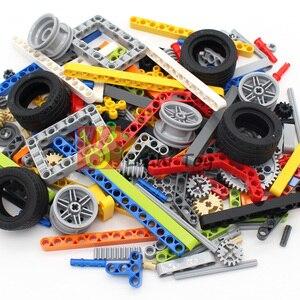Image 2 - Teknik parçaları 250g Liftarm kiriş dişli çapraz aks çerçeve konektörü Pin MOC teknİk adet yapı taşları Robot oyuncaklar