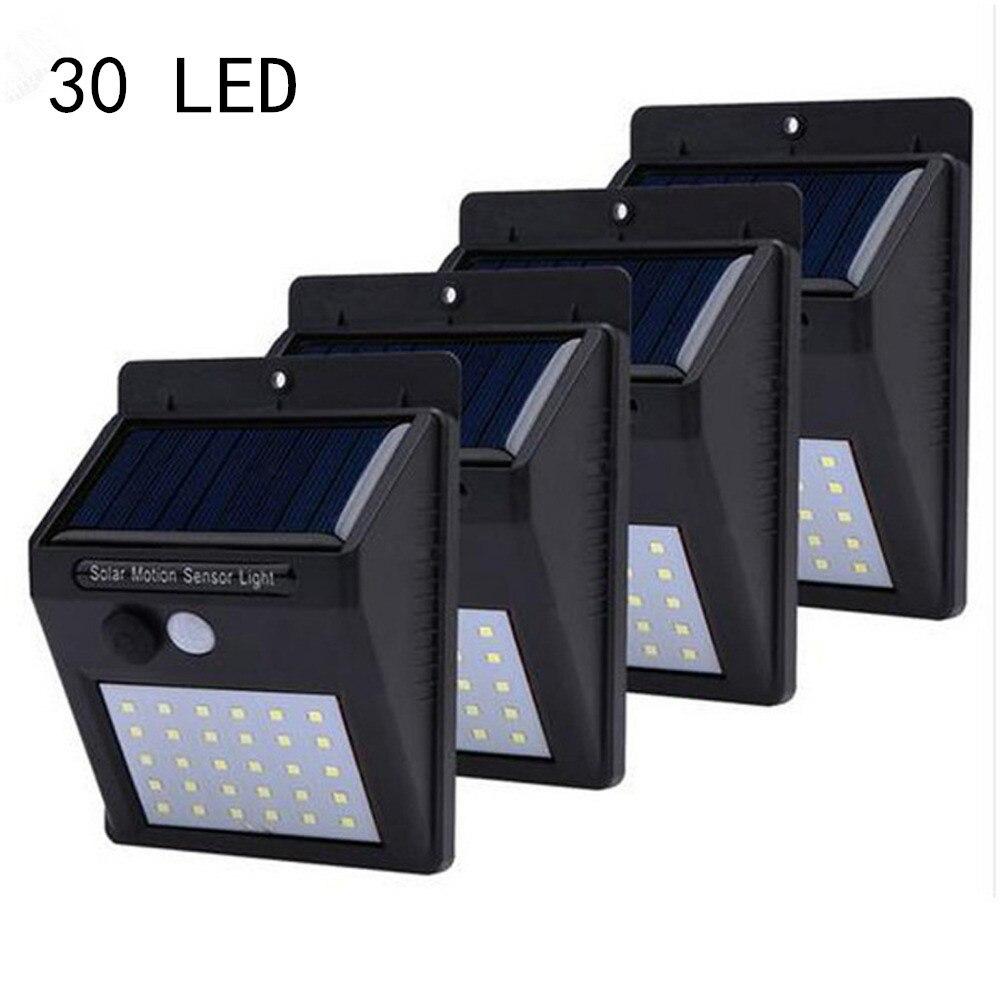 30 LEDs Solar Lights Outdoor Garden Solar Powered Lamps PIR Motion Sensor Wall Light Waterproof Sunlight Emergency Path Lamp