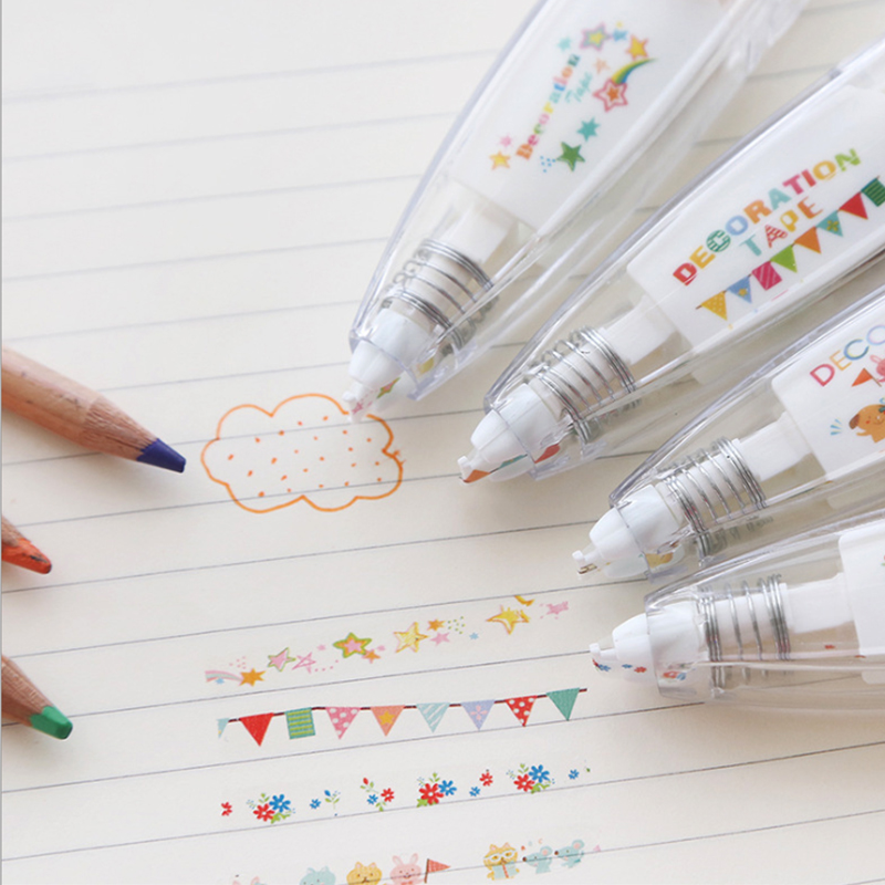 Korean Stationery Creative Push-up Lace Correction Tape Cute Altered Decoration Tape DIY Diary Only