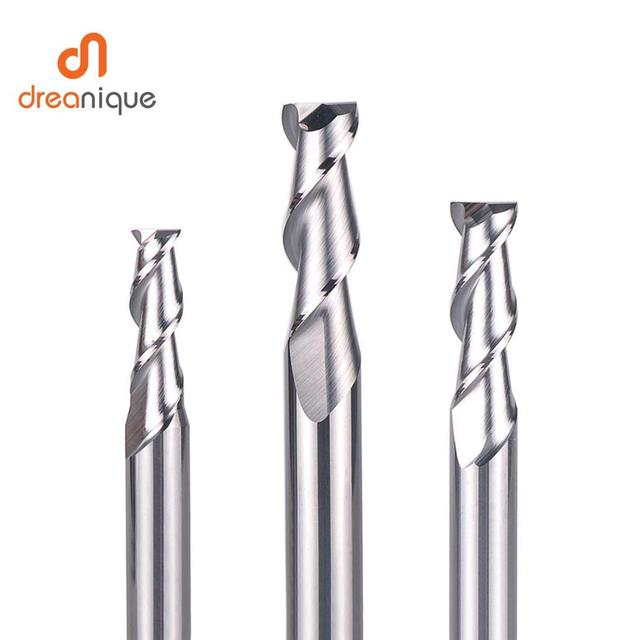 1pc flattened end mill 2 flutes end milling cutters d1 d12 cnc end mills face and slot milling tools for aluminum machining