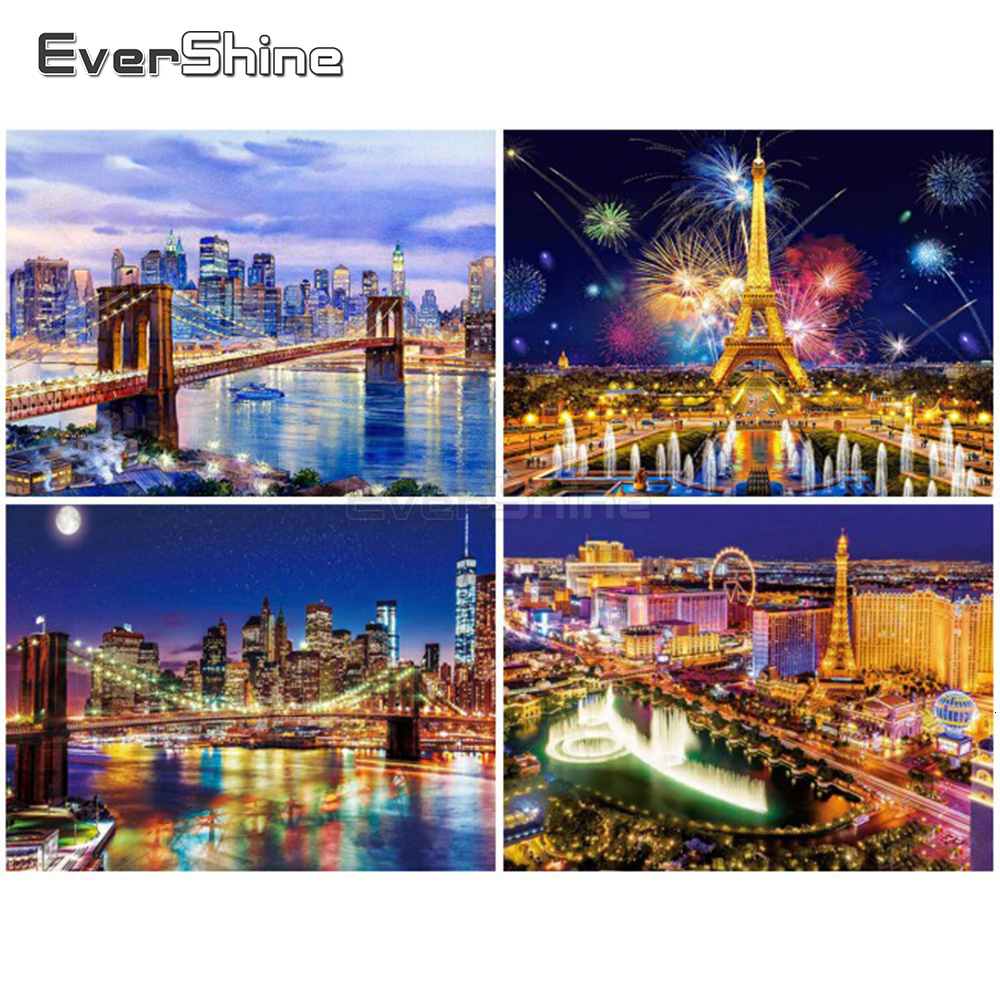 EverShine Paint By Numbers For Adults Landscape Hand Painted Wall Art Drawing Canvas Number Painting Home Decor