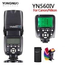 цена на YONGNUOYN560III YN560IV 2.4GHZ Wireless Flash Speedlite Transceiver Integrated + YN560TX II trigger transmitter for Canon Nikon