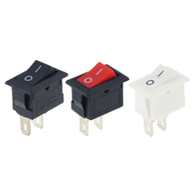 10PCS  Push Button Switch 10x15mm SPST 2Pin 3A 250V KCD11 Snap-in ON OFF  Rocker Switch 10MM*15MM Black Red and White