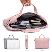 Новая сумка на плечо для ноутбука macbook air 13 Чехол 13,3 14 15,6 дюймов чехол для ноутбука macbook pro 13 чехол из искусственной кожи сумка для ноутбука