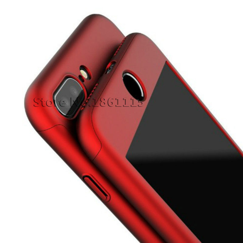 360 Degree Full Cover Phone Shell With Tempered Glass Case For iPhone Models 3