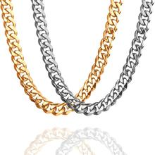 15mm Cuban link chain choker Mens Necklace Accessories Gold Stainless Steel Necklaces Men  Fashion Jewelry Luxury Accessory granny chic 12 15 17 19mm fashion curb cuban mens necklace chain silver gold stainless steel necklaces for men jewelry 7 40 inch