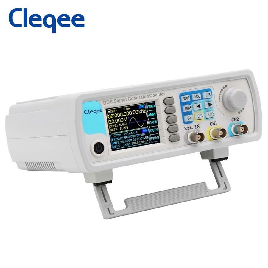 Cleqee JDS6600-60M 60 МГц двухканальный генератор сигналов произвольной формы DDS функция счетчик цифровой измеритель частоты управления