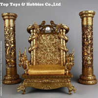 Hot Figure Accessory Furniture 1/6 Scale Ancient Dragon King Chair Throne Base Model Figure Scene Accoessories for fans collecti