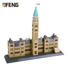 Wange Famous Architecture Building Blocks Creative World's Series 608pcs Construction Canadian Parliament Bricks Kid Toys Gifts