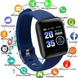 Smart Sport Watches Fitness Bracelet Bluetooth Measurement Body Blood Pressure Temperature Heart Rate SmartWatch 115/116 Plus M4