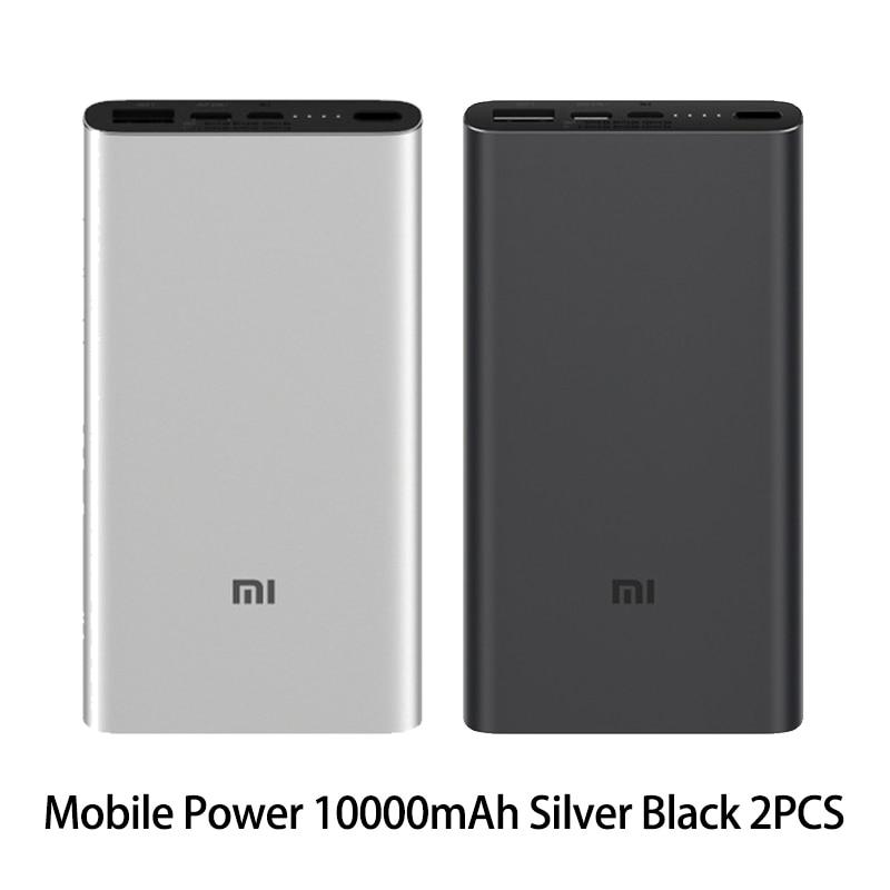 Xiaomi Mi 3 Pro 10000 мАч Внешний аккумулятор Двусторонняя Быстрая зарядка USB-C Двойной вход выход PLM12ZM 10000 мАч Внешний аккумулятор для мобильного телефона - Цвет: Silver and Black