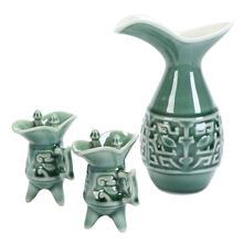 Китайский фарфоровый винный набор старинный s кувшин вина винтажный