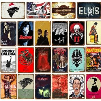 Movie Poster Film Star Rocky Shining Elvis Pulp Fiction Club Wall Decor Tin Signs Vintage Metal Plaque наволочка shining star shining star mp002xu0e2jo